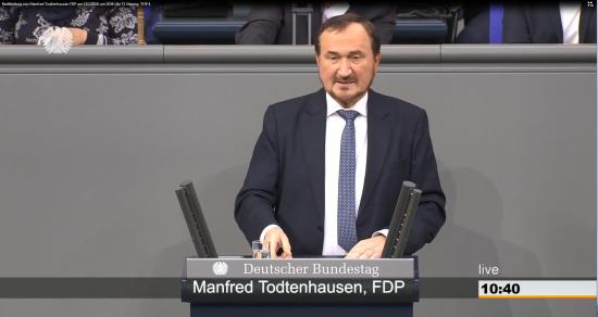 Im Plenum des Deutschen Bundestages