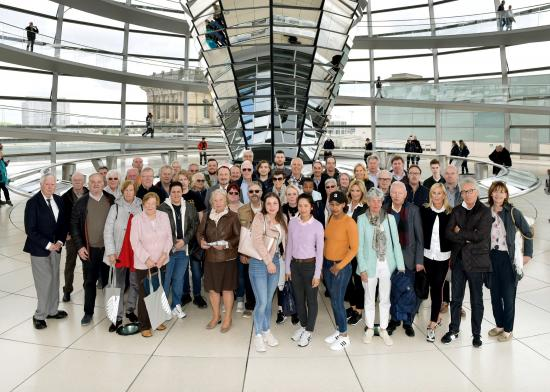 BPA-Gruppe in der Reichstagskuppel